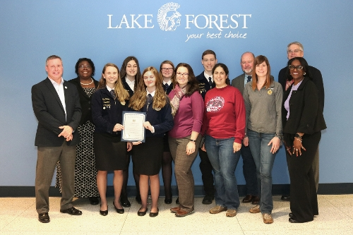Lake Forest FFA House Tribute