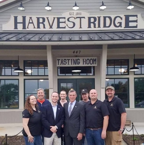 Governor Carney visits Harvey Ridge Winery